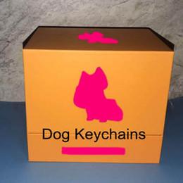Nuevos diseños de llavero online-Nuevo perro llavero monedero bolsos colgantes diseño para perros coches cadenas llaveros para mujeres regalos para mujer para hombre acrílico llaveros de tacón alto con caja