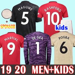 Camisetas de portero de fútbol niños online-Football Shirts Soccer Jersey Manchester united Camiseta Copa 2019 LUKAKU ALEXIS HOMBRE RASHFORD Camiseta de fútbol 18 19 POGBA MARCIAL De Gea UTD MATA MATIC portero