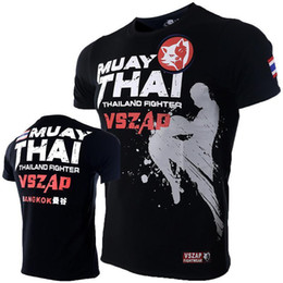 70780309a 2019 lutas do mma camisetas Nova camiseta homme VSZAP Muay Thai Aptidão  Curta-manga comprida
