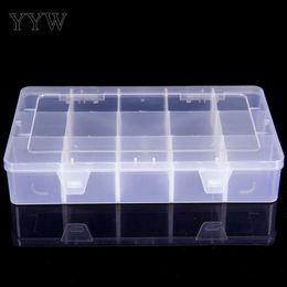 2019 rectángulo de plástico transparente 2019 Trendy Luxury 15 Cells Beads Jewelry Plastic Container Bead Rectangle Transparente Clear Jewelry Display Display rectángulo de plástico transparente baratos