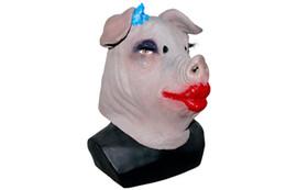 2019 déguisement cochon Tête De Cochon Masque Animal Cochon Cosplay Déguisement De Soirée En Latex Déguisement déguisement cochon pas cher