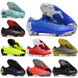 a7be9ebf24c Nuevos Botas de fútbol de tobillo bajo para hombre CR7 Vapores mercuriales  XII VII Elite FG ACC Zapatos de fútbol Original Superfly 360 Neymar NJR  Tacos de ...