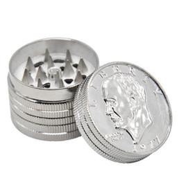 2019 fabricantes de moedas Fabricantes de vendas diretas de mini-camada de três camadas de metal moedor de fumaça chopper dólar moeda estilo moedor de fumaça local desconto fabricantes de moedas