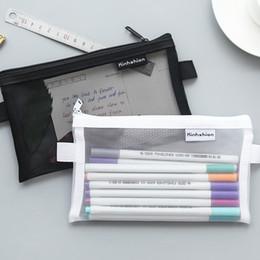 6 Couleurs 2 Taille Gaze Crayons Zipper Fichier Sac Haute Capacité Crayon Sacs Cosmétique Sacs Célèbre Cartoons Crayon Ensemble De Cas ? partir de fabricateur