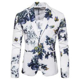 trajes azul real corbata roja Rebajas Abrigos de flores para hombre Talla asiática S M L XL XXL XXXL Blazer para hombre Diseño delgado chaqueta de hombre Primavera y otoño