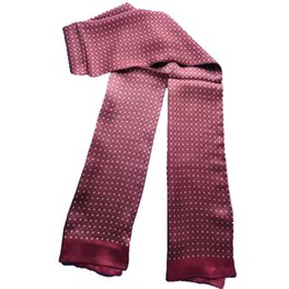 Hombres 100% Pure Silwworm Bufanda Larga Masculina de Doble Capa Pañuelo Otoño Invierno Impresión Bufandas Hombre RED Plaid desde fabricantes