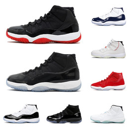 Ciudad del zapato online-nike air jordan retro Nuevo Bred 11 11s hombres mujeres Zapatillas de baloncesto concord cap and town Platinum Tint gamma blue ROSE GOLD Cherry mens athletic Sports Sneakers