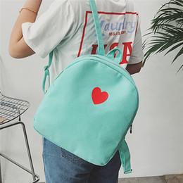 lindas mochilas de diseño para la escuela Rebajas Nueva mochila de moda para mujer Love Heart Mini mochila impresa para niñas adolescentes Cute Small Designer School Mochila Bolsas de lona