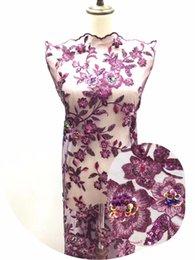 африканская кружевная фиолетовая органза Скидка Африканский фиолетовый золото органзы блестки ткань шнурка 2019 горячее Нигерийский свадебное платье высокого качества органзы французский Чистая Mesh Кружева