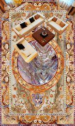 Impresiones de papel tapiz vintage online-[Autoadhesivo] 3D Vintage Pattern 159 Floor Wallpaper Mural Wall Print Decal Murales de pared