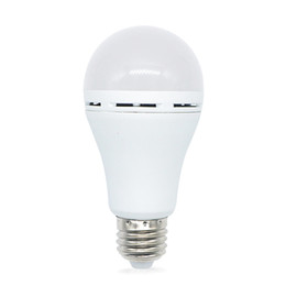 2019 batería led e27 Edison2011 9W 12W Bombillas LED 95-265V E27 Batería recargable LED Lámpara de emergencia Bombilla Luces de noche de emergencia rebajas batería led e27