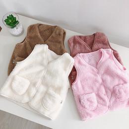 muchachos del chaleco de navidad Rebajas Ropa Chalecos de piel de imitación de los bebés de los muchachos chalecos para niños Navidad Chalecos Chaleco de abrigo de invierno para niño del bebé 0-3Y