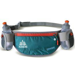 2019 бутылочка для фанни AONIJIE Running Hydration Belts Bottle Holder Belt Reflective Running Water Belt Fanny Pack Men Women Two Type Waist Packs скидка бутылочка для фанни