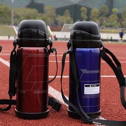 Termos online-Outdoor Motion Thermos Cup Coperchio doppio Bollitore per acqua Creativo Tazza Acciaio inossidabile con manici Adulto Blu Nero 29hz C1