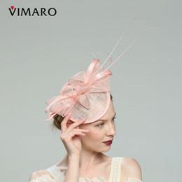 rosa fascinatoren für haare Rabatt Rosa / Grün Haar Fascinators Hüte für Frauen Elegante Fascinators für Hochzeiten Hüte und Fascinators Haarschmuck Stirnbänder