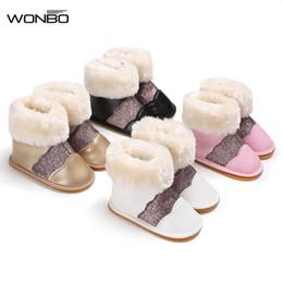2020 zapatos brillantes niños Algodón de alta calidad Baby Snow Kids Snow Boots Baby Girl Botas de goma suave Infant Toddler Newborn Warming Shiny Shoes zapatos brillantes niños baratos