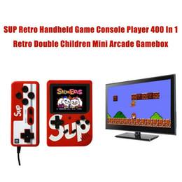 Juegos de arcade de juguete online-SUP mini juego de arcade para niños máquina retro - juego de video portátil portátil doble portátil sistema de juego portátil de viaje para niños juguetes para hombres y hombres