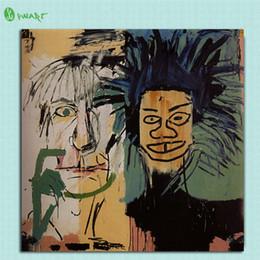 pintura dormitorio principal Rebajas Jean Michel Basquiat Decoración, HD Impresión en lienzo Decoración para el hogar Pintura del arte / (Sin marco / Enmarcado)