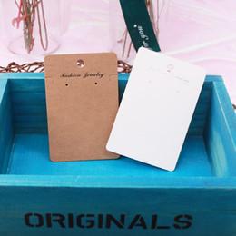 Cartes d'affichage papier en Ligne-Haute qualité 15pcs / lot 6x9cm Kraft bijoux cartes papier boucles d'oreilles carte oreille goujons collier affichage cartes d'emballage étiquettes