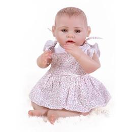 Jouets de corps en latex en Ligne-43cm Reborn Baby Doll Silicone Simulation Baby Doll Full Body Colle Douche Jouet Pour Enfants Fille Education Fournitures