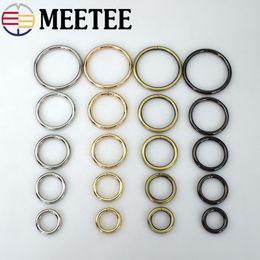 2019 cinturon d anillos Meetee Metal D O Shape Anillo Hebilla Círculo Conexión Bolsa Botón de correa Cinturón Collar para perros Piezas de equipaje Accesorios cinturon d anillos baratos