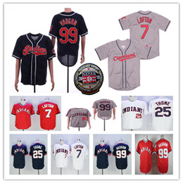 2021 ricky vaughn jersey Retro Hommes Cleveland 2018 Hall Of Fame Ricky Vaughn Kenny Lofton Jim Thome Pull Jersey Red Team Blanc Bleu Marine Gris Taille S-3XL