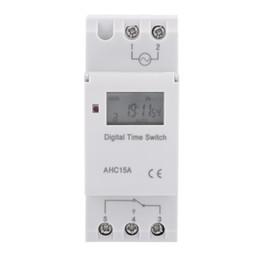 12V 24V 110V 220V AC 50-60Hz Electronic Switch Weekly programável LCD Digital Display Temporizador Relay Timer controlador de