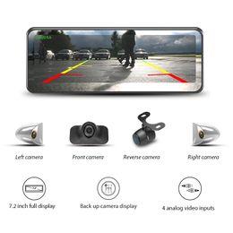 2019 caméras de recul GERMID Dernières 7.2 « » LCD Plein écran 4 caméras Affichage caméra de recul sans cadre Miroir pour ramassage Rearview Bus Truck Camper Van voiture promotion caméras de recul