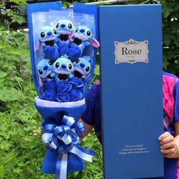 2019 großhandel plüsch hai Stich Bouquet Anime Plüsch Sachen Spielzeug für Mädchen weiche Blumen Festivals Geburtstag Valentinstag Geschenke für Freundin