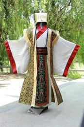 Cappello cinese online-costume hanfu uomini degli uomini cinesi di nuovo nero tradizionale vestito nazionale linguetta antichi abbigliamento hanfu del cappello maschile