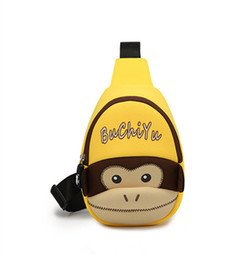 small bag monkey Promo Codes - New Kids Boys Girls Super Cute Cartoon Monkey Yellow Chest Bag Children Unisex Portable Outdoor Fashion Small Messenger Bags