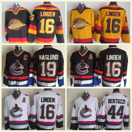 2018 Mens NHL 44 Bertuzzi 16 Linden 19 Naslund White Black Gold CCM Vintage  Hockey Jerseys 100% Stitched Embroidery Logos High Quality 8fc645ae1