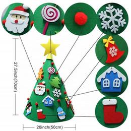 2019 giocattoli all'ingrosso del harry potter 3D fai da te feltro del bambino Albero di Natale Capodanno per bambini giocattoli dei regali artificiale albero di Natale della decorazione della casa che appendono gli ornamenti ULE423