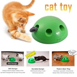 peek boo toys Promo Codes - N PLAY Cat Traning Toy Funny Carnival Game Peek A Boo Play Stimulates Dog Pet Mentally Physically Cat Scratching Device Cat Toy Y200330