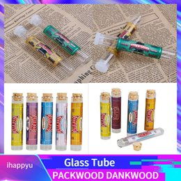 rolled stickers Coupons - DANKWOODS Packwoods Empty Glass Tube Wood Cork Tips Cartridges Dry Herb Herbal RAW Pre-roll With Flavors Stickers E Cigarettes Vapor Tubes