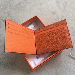 Cartões de crédito garantidos on-line-Garantia de qualidade Carteira de couro genuíno popular presente dos homens Pequenas Bolsas de Dinheiro Carteiras Novo Design banco Titular do Cartão de Crédito Carteira com caixa
