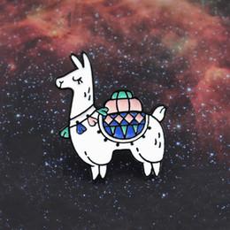 Spilla di buona qualità online-La spilla creativa di personalità della spilla dell'alpinino animale sveglio di Llama Pin decora lo zaino dei vestiti buona qualità e vendita calda