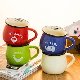 Retro criativa Ceramic Cup barrigudo xícaras de leite para o pequeno almoço Glaze caneca de cerâmica copos de café 50km062 de Fornecedores de copos de copos piratas