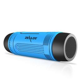 Играть в фонарик онлайн-S1 Портативные беспроводные Bluetooth-динамики с аварийным наружным фонариком Powerbank более 20 часов игрового времени Zealot Design
