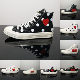 2021 scarpe di tela di buona qualità Hot Sale Black White Red Fashion Casual Shoes Big Eyes Milk White High Risk Red Polka Dot Designer Canvas Sneakers Good Quality