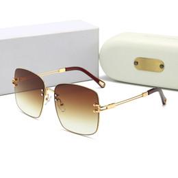 2019 nomes de marcas de óculos de sol Atacado designer de óculos sem aro rectangular branco chifre de búfalo óculos homens mulheres marca óculos de madeira de bambu desconto nomes de marcas de óculos de sol