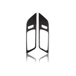 Углеродистая дверь автомобиля онлайн-Дизайн одежды Для Ford Mustang Углеродного Волокна Внутренние Дверные Ручки Дверная Чаша Декоративная Крышка Отделка Стикер Стайлинга Автомобилей Автоаксессуары