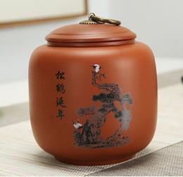 черная затяжка Скидка Фиолетовый глиняный чайник керамический 0,5 кг бытовой герметичный горшок пу 'черный чай и зеленая банка для хранения горшок