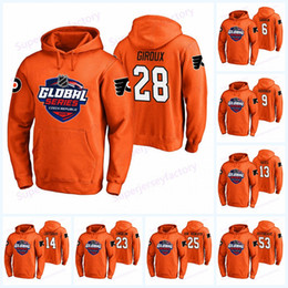 flyers à capuche Promotion 28 Sweat à capuche Claude Giroux Flyers de Philadelphie Série mondiale 2019 7 Wayne Simmonds 88 Lindros 13 Hayes 93 Sweat à capuche Voracek