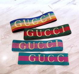 G diseño de letras online-Diadema elástica para hombres y mujeres 2019 NUEVO Letra G Lentejuelas diseño Verde rojo rosado Bandas para el cabello Para mujeres Chica Retro Turbante Headwraps Regalos