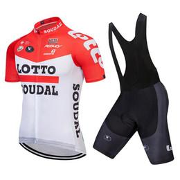 Shorts de loto en Ligne-Maillot 2019 Lotto Team d'été à manches courtes Ropa Ciclismo Sport VTT Maillot Vélo Vêtements Bib Shorts 9D GEL PAD Vêtements de vélo