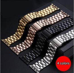 Goldkette armbanduhren online-44 / 42mm 40 / 38mm Edelstahl-Uhrenarmbänder Metallketten-Armbänder Smart Watchband für Apple iWatch-Serie