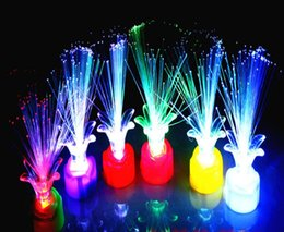 Lâmpadas de fibra óptica on-line-0.7 epacket Plum Blossom Noite Lâmpada Colorida Rosa Fibra Óptica Flor led Light-emitting Toy Presente