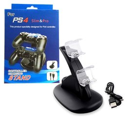 playstation wireless controller charger Coupons - Controller Charger Wireless Dock LED Dual USB PS4 Charging Stand Station Cradle for Sony Playstation 4 PS4   PS4 Pro  PS4 Slim Controller