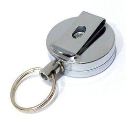 Популярные брелки онлайн-Нержавеющая сталь Металл Key Chain канатные ключей Кольцо защиты от хищения Популярные Keychains Портативный горячий продавая 2 5hm J1